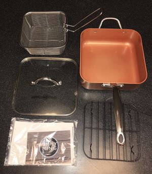 mply Ming 5-Quart Square Jumbo Pan with Steamer Rack and Fry Basket - Copper Bronze for Sale in Clackamas, OR