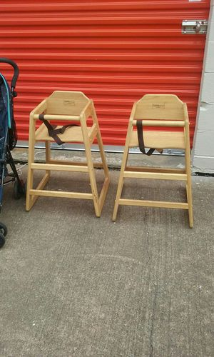High chairs solid wood for kids for Sale in Houston, TX