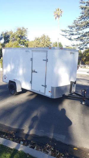 ENCLOSED TRAILER CARGO 6X13X6.5 TALL WITH RAMP AND SIDE DOOR for Sale in Los Angeles, CA