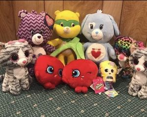 Care bears Shopkins Beanie Animal Plushes for Sale in Danbury, CT