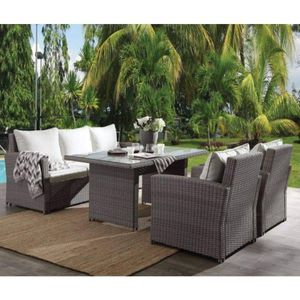 4 PIECE OUTDOOR PATIO POOLSIDE DINING TABLE SET CHAIRS SOFA TABLE / MUEBLES COMEDOR SILLAS for Sale in Downey, CA