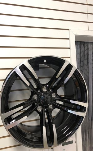 """18"""" staggered bmw m3 m4 style wheels rims tires 5x120 fit 3 4 5 6 series e46 e90 e92 328i 335i xdrive awd f30 f32 f33 428i 430i 435i gran coupe for Sale for sale  Queens, NY"""