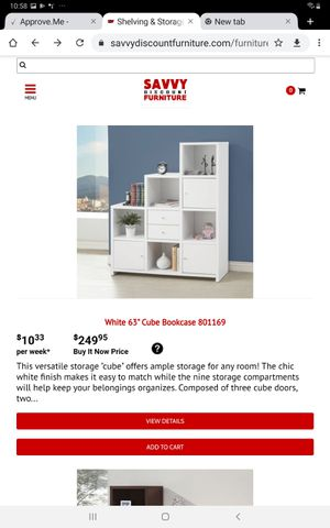 White 63' Cube Bookcase for Sale in Farmers Branch, TX
