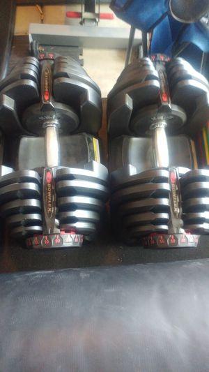 90 lb adjustable Bowflex dumbbells for Sale in Elk Grove, CA