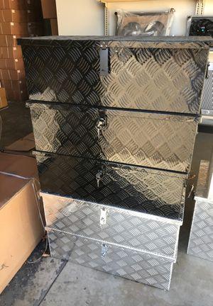 "30""X13""X10"" aluminum trailer tongue toolbox for Sale in San Bernardino, CA"