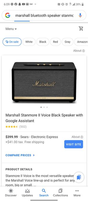 Marshall stanmore 2 bluetooth speaker for Sale in Chicago, IL