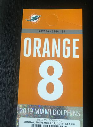 Orange Parking pass for today's game! Only $20 OBO for Sale in Plantation, FL