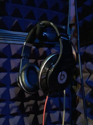 Beats By Dre Studios with Monster Cable and Case for Sale in West Hollywood, CA