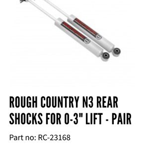 Jeep Wrangler TJ Rough Country Shocks for Sale in Westport, MA
