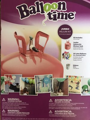 New Balloon Time Helium Kit 14.9 cu ft. for Sale in Miami, FL