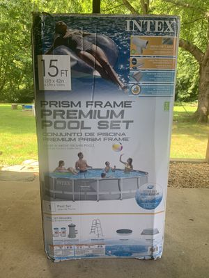 "Intex 15' x 42"" Prism Frame Premium Pool Set for Sale in Harwood, MD"