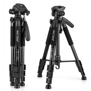 MACTREM M-PT55-Bk PT55 Travel Camera Tripod Lightweight Aluminum for DSLR SLR Canon Nikon Sony Olympus DV with Carry Bag -11 Lbs(5Kg) Load (Black) for Sale in Houston, TX
