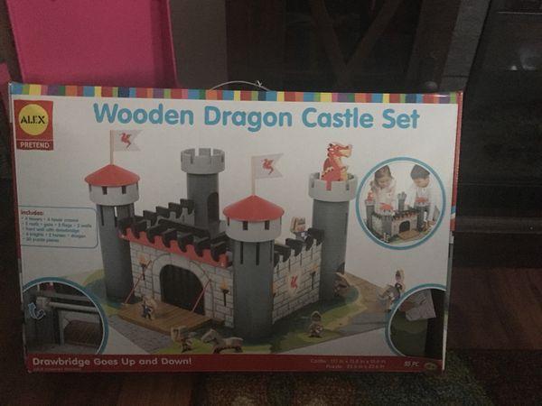 Kids Wooden Dragon Castle Set For Sale In Oak Lawn Il Offerup