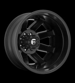 """Fuel Maverick 20x8.25 Dually Wheels Ford Chevy Dodge Direct Bolt 8 Lug Tires 33"""" for Sale in Bellflower,  CA"""