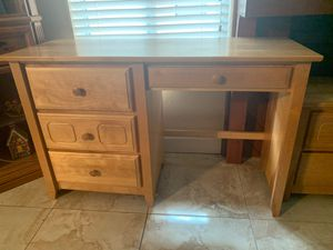 Light Wood Desk and Drawer (Matching Night Stand) for Sale in Miami, FL