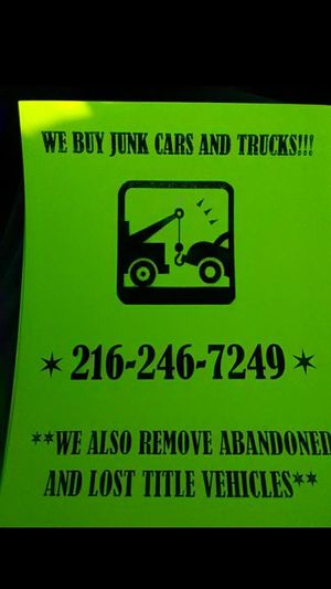 Buying junk cars top dollar paid for Sale in Cleveland, OH