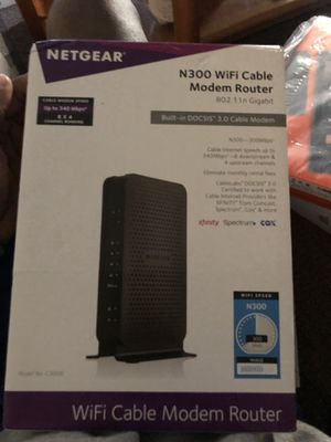 NETGEAR n300 wifi cable modem router for Sale in Lithonia, GA