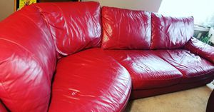 Red Sofa and Matching Chair for Sale in Kent, WA
