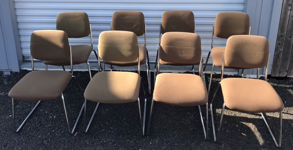 MCM Chrome Side Chairs Antique- $35 each OBO