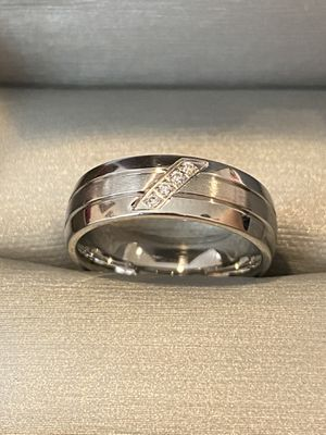 Unisex Silver Engagement /Promise/ Wedding Ring - Code NG33 for Sale in Houston, TX