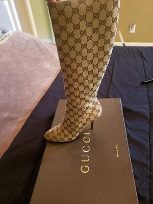 Gucci GG canvas tall boots for Sale in McDonough, GA