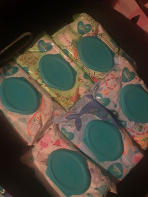 Wipes, baby wipes, pampers wipes, pampers, baby, 65 bags available for 3.50 each for Sale in Hampton, VA