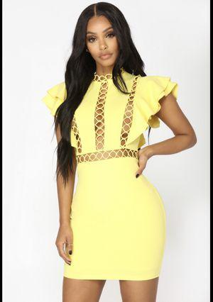Yellow Dress W/ Short Ruffle Sleeves for Sale in Philadelphia, PA