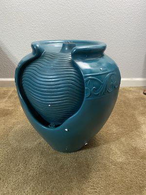Teal Glazed por fountain for Sale in Fresno, CA