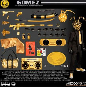 Mezco Exclusive Agent Gomez /w Gold Head Action Figure Set/ RARE for Sale in The Bronx, NY