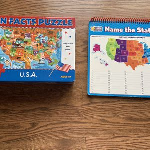 USA Map Puzzle And Learning Dry Eraser Board for Sale in Herndon, VA