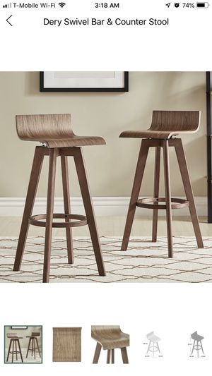(New) Modern Midcentury bar stools (set of 4) for Sale in Miami, FL