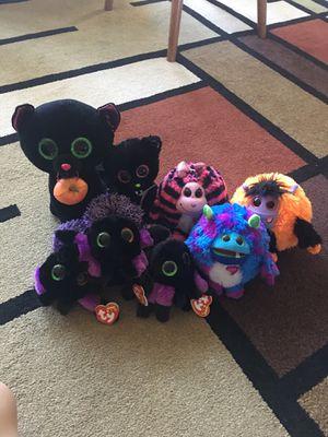 Halloween beanie boo stuffed animals for Sale in Milwaukie, OR