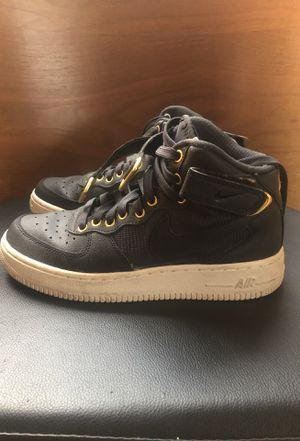 Nike AF1s - Women's black and gold for Sale in Santa Monica, CA