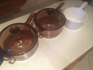 Vintage Corning Visions Pyrex Glass Cookware for Sale in Fleming Island, FL