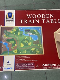 New! Wooden train table only $40 🤗 for Sale in Pico Rivera,  CA