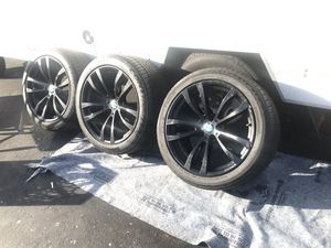 """3 BMW M Series Double Spoke 20"""" Black Factory Original Wheels and Tires Only 3 for Sale in Castro Valley, CA"""
