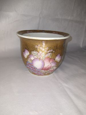 Gold Decorative Flower Pot W/ Pink Purple & Blue Fruits for Sale in Duluth, GA