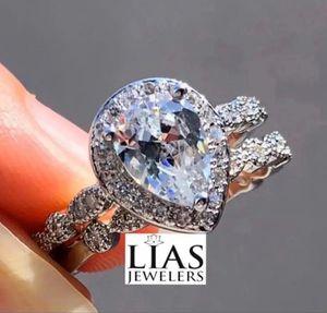 New 18 k white gold wedding ring set for Sale in Sunrise, FL