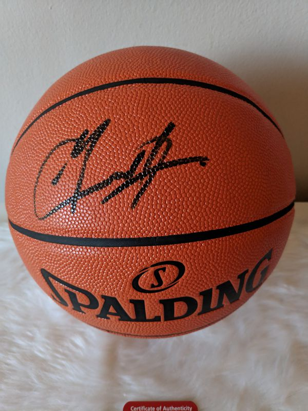 Grant Hill Autographed Basketball with COA