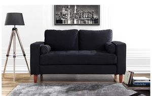 Black Plush Loveseat/couch for Sale in San Francisco, CA