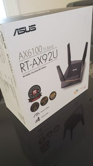 Asus RT-AX92U AX6100 Tri-Band Wi-Fi 6 Mesh Router for Sale in Miami, FL