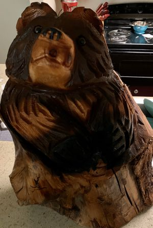 Wooden bear for Sale in Amarillo, TX