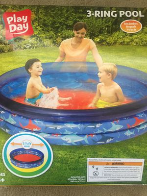 Inflatable 3 run water pool. Used once. Finding dory water hose spinning sprinkler. for Sale in Castro Valley, CA