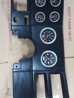 Carbon Fiber Chevy Dashboard With Gauges for Sale in Tacoma,  WA