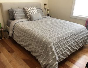 Wayfair Upholstered Queen Bed - MUST PICK UP for Sale in Philadelphia, PA