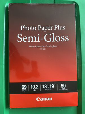 Canon Photo Paper - SG 201 for Sale in Atlanta, GA