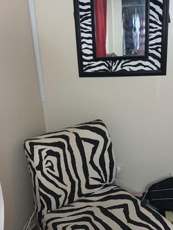 Zebra Chair/couch And Mirror for Sale in Peabody,  MA