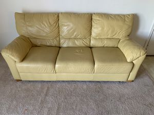 2 leather couches and large leather chair for Sale in Manassas, VA