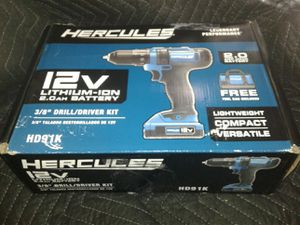 Hercules 3/8 keyless compact drill driver kit for Sale in Holiday, FL