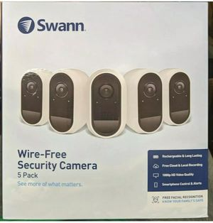 SWANN WIRE-FREE SECURITY CAMERA 5PACK NO BOX COMPLETE for Sale in Austin, TX